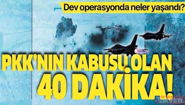 Pençe-Kartal Operasyonu'nda neler yaşandı? PKK'nın kabusu olan 40 dakika!