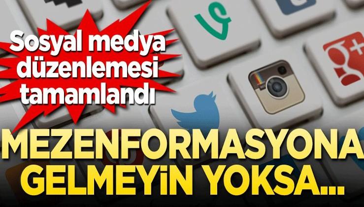 Sosyal medya düzenlemesi tamamlandı! Mezenformasyona gelmeyin yoksa...