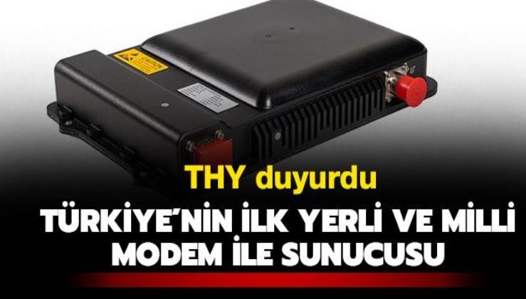 Türk Hava Yolları Teknik A.Ş Türkiye'nin ilk yerli ve milli sunucu ile modemini üretti
