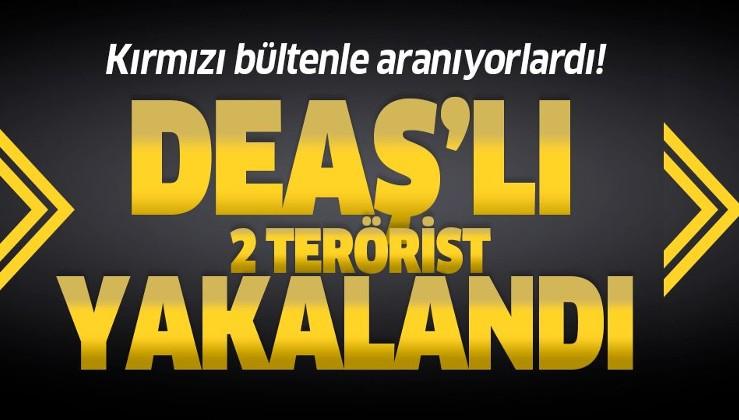 Interpol tarafından kırmızı bültenle aranan 2 DEAŞ'lı Kilis'te yakalandı.