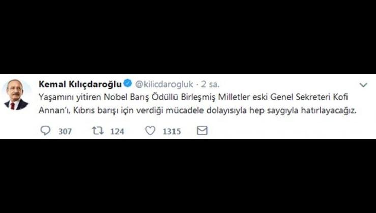 Sayın Kılıçdaroğlu'nun Kofi Annan'la ilgili sözleri