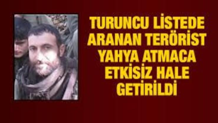 Son dakika: Turuncu listedeki 'Savaş Fırat' kod adlı terörist Yahya Atmaca öldürüldü