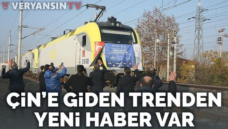 Türkiye'den Çin'e giden ilk ihracat treni Ankara'dan geçti