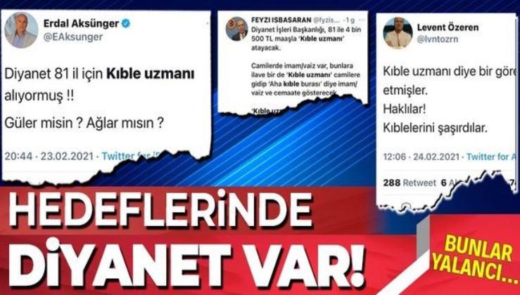 CHP ve İYİ Partili isimlerin 'Diyanet İşleri Başkanlığı'na 81 ile 4 bin 500 TL maaşla kıble uzmanı atandı' iddiası da yalan çıktı!