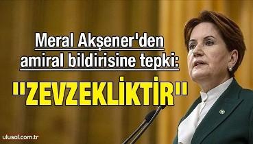 Akşener'den amiral bildirisine tepki: ''Zevzekliktir''
