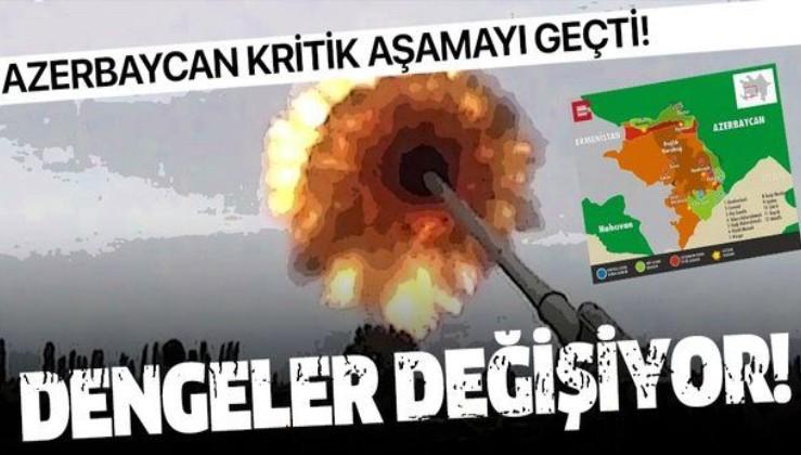 Son dakika: Azerbaycan ordusu kritik aşamayı geçti! Dengeler değişiyor...