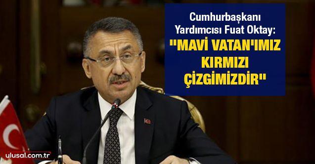 """Cumhurbaşkanı Yardımcısı Fuat Oktay: """"Mavi Vatan'ımız kırmızı çizgimizdir"""""""