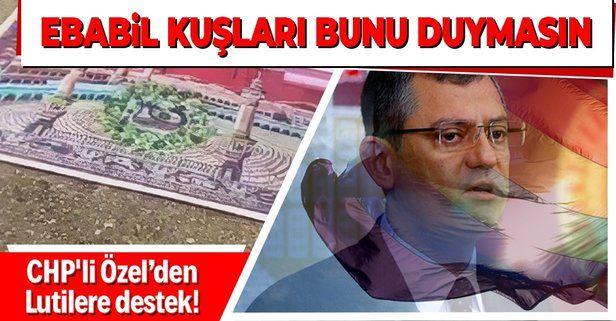 Özgür Özel, Kabe-i Muazzama'nın resmini yere seren Boğaziçi'ndeki sapkın Lutilere destek verdi