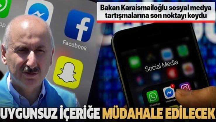 Bakan Karaismailoğlu'ndan 'sosyal medya' açıklaması: Uygunsuz içeriğe müdahale edilecek