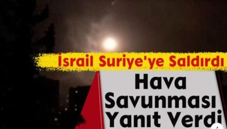 İsrail Suriye'ye Saldırdı, Hava Savunması Yanıt Verdi