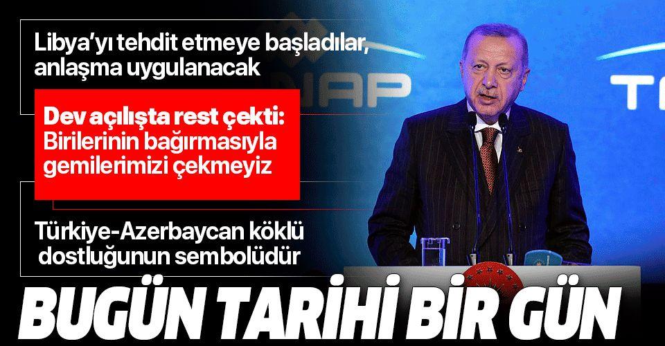 Son dakika: Erdoğan'dan TANAP Avrupa Bağlantısı Açılış Töreni'nde önemli açıklamalar.