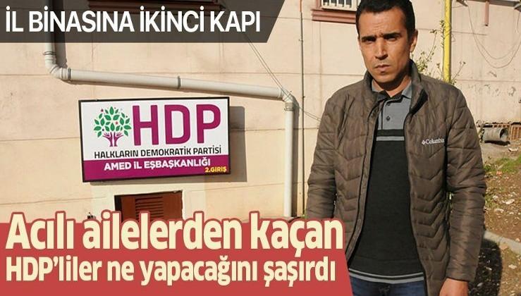 Diyarbakır HDP il binasına ikinci kapı acılı aileleri çileden çıkardı!.