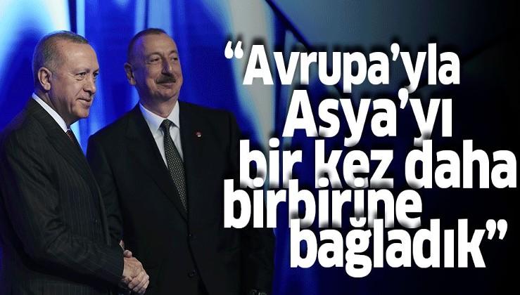 Erdoğan'dan TANAP paylaşımı: Avrupa'yla Asya'yı bir kez daha birbirine bağlıyoruz.