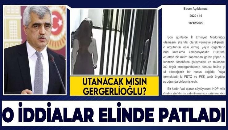 HDP'li Ömer Faruk Gergerlioğlu'nun 'çıplak arama' yalanı elinde patladı! İşte o görüntüler
