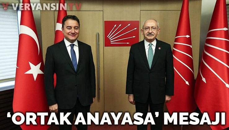 Kılıçdaroğlu ve Babacan'dan 'ortak anayasa' sinyali