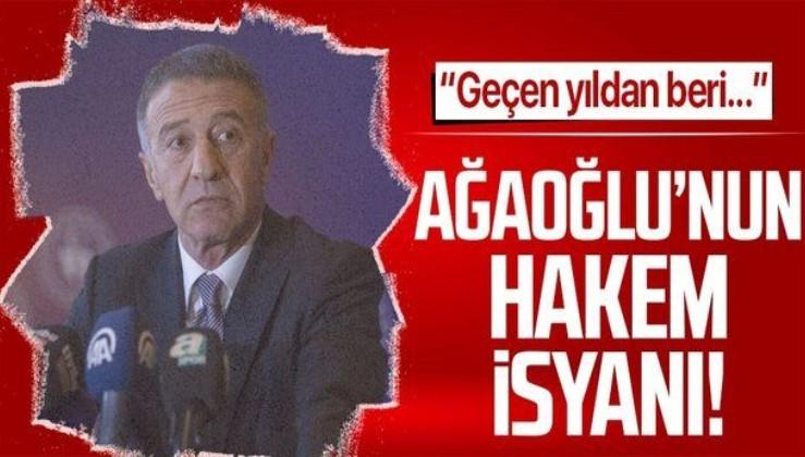 Trabzonspor Başkanı Ahmet Ağaoğlu'ndan Fenerbahçe maçı sonrası Yaşar Kemal Uğurlu isyanı! Penaltıyı...