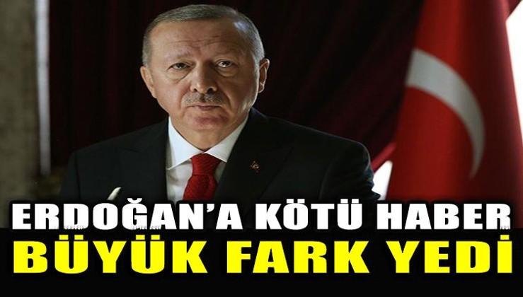 Seçim anketinde Erdoğan'a kötü haber
