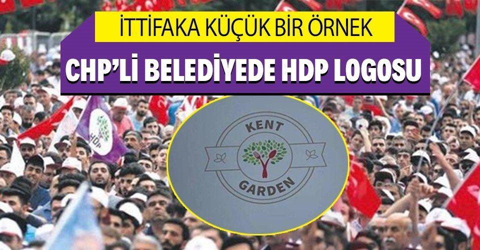 CHP'li Karşıyaka Belediyesi şirketinde HDP logosu!