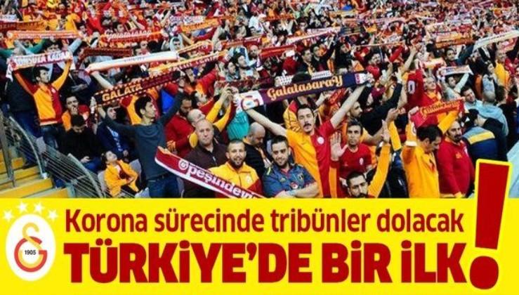 Galatasaray'dan Türkiye'de bir ilk! Koronavirüs sürecinde tribünler dolacak