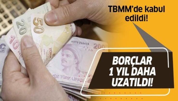 TBMM'de kabul edildi! Çek borcu olanlara müjde! 1 yıl daha uzatıldı