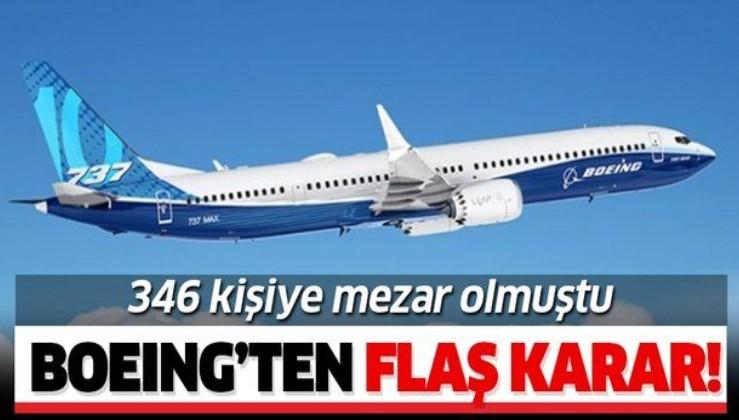 346 kişiye mezar olmuştu! Boeing, 737 Max yolcu uçaklarının üretimini durdurma kararı aldı!.