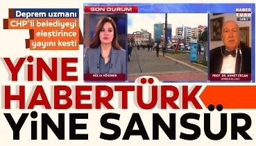 Habertürk TV'de Prof. Dr. Ahmet Ercan'a skandal CHP'li Belediye sansürü! Hülya Hökenek yayını böyle sonlandırdı...
