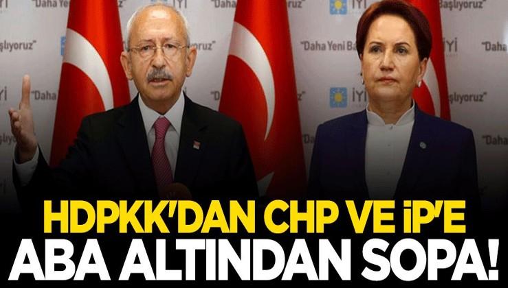 HDPKK'dan CHP ve İYİ Parti'ye aba altından sopa