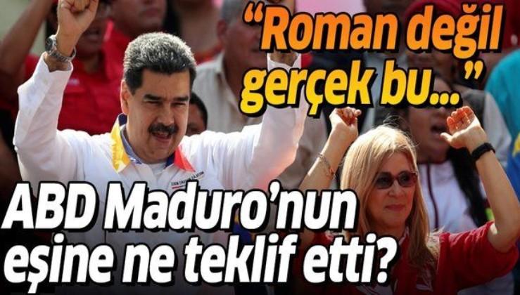 Venezuela Devlet Başkanı Maduro'dan bomba iddia: ABD eşime benden boşanması için teklif yaptı