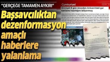 Başsavcılıktan Cumhuriyet, Birgün ve Tele 1'in haberlerine yalanlama