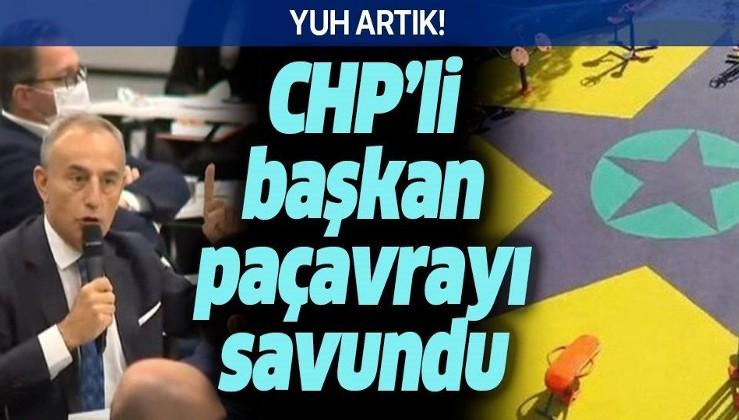 Küçükçekmece'nin CHP'li Belediye Başkanı Kemal Çebi, parka yapılan PKK paçavrasını savundu