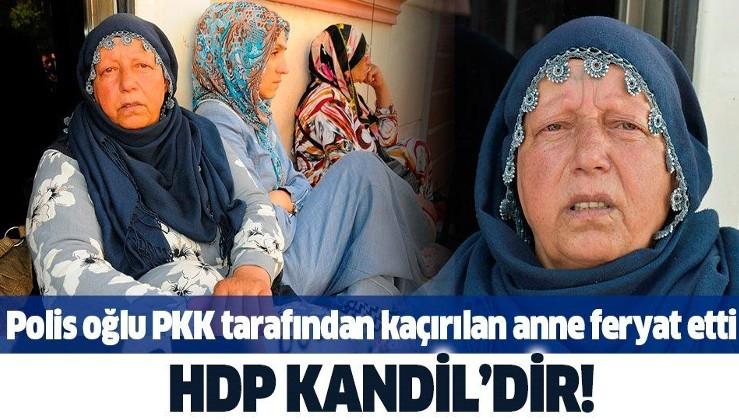 Polis oğlu PKK tarafından kaçırılan acılı anne Emine Kaya feryat etti: HDP Kandil'dir.