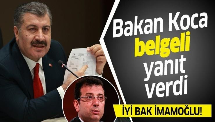Son dakika: Sağlık Bakanı Fahrettin Koca'dan İmamoğlu'nun 'koronavirüste ölü sayıları gizleniyor' iddialarına belgeli yanıt!