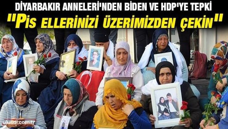 """Diyarbakır Anneleri'nden Biden ve HDP'ye tepki: """"Pis ellerinizi üzerimizden çekin"""""""