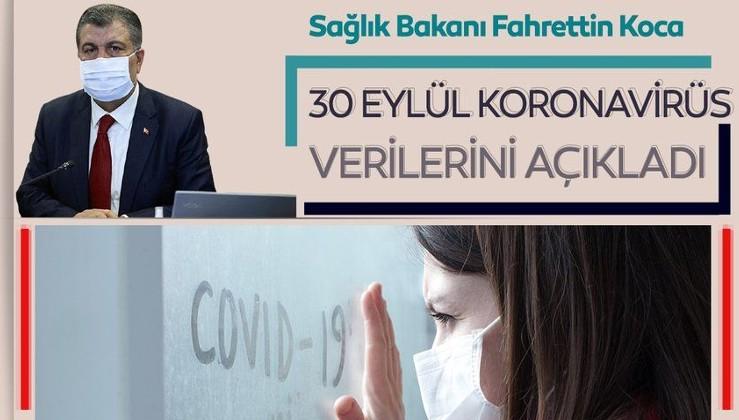 Son dakika haberi: Bakan Fahrettin Koca 30 Eylül koronavirüs vaka ve vefat sayılarını açıkladı! İşte, Türkiye'de corona virüs son durum tablosu