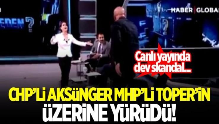 HDPKK'yı savunan CHP'li Aksünger canlı yayında konuğun üzerine yürüdü