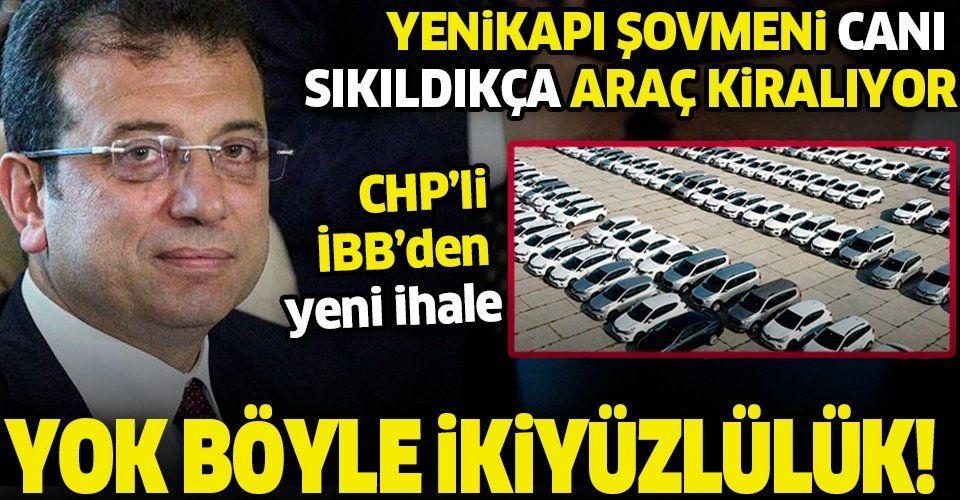 İBB Başkanı Ekrem İmamoğlu'nun ikiyüzlülüğü: Yenikapı'da şov yaptıktan sonra üst üste araç ihalerine çıktı