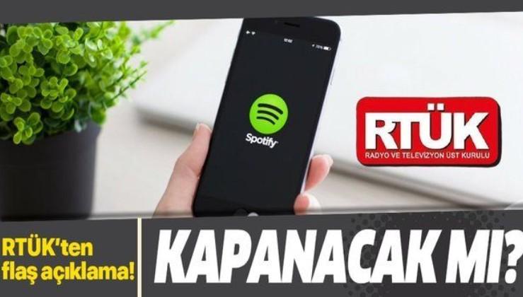 Son dakika: RTÜK'ten Spotify açıklaması