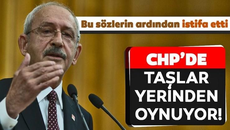 CHP'yi sarsan istifa!
