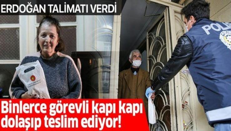 İstanbul'da 65 yaş ve üstündeki 1 milyon 150 bin kişiye maske ve kolonya dağıtımına başlandı