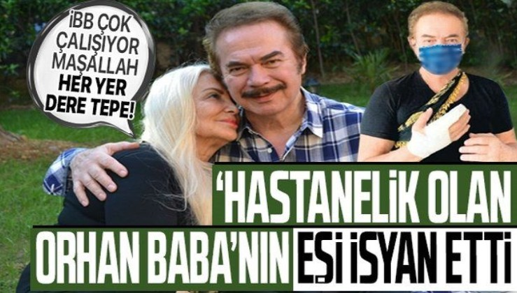 """Orhan Gencebay'ı hastanelik eden çukur, eşi Sevim Emre'yi isyan ettirdi! """"Belediye çok çalışıyor maşallah!"""""""