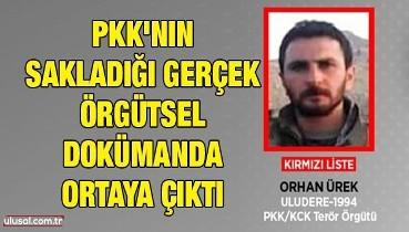 PKK'nın sakladığı gerçek örgütsel dokümanda ortaya çıktı