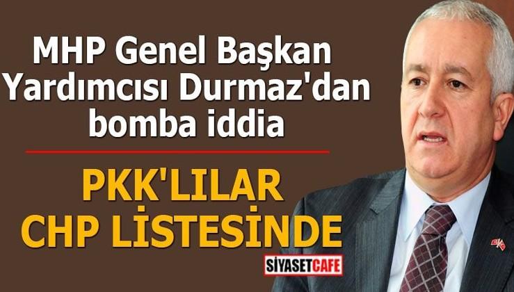 MHP Genel Başkan Yardımcısı Durmaz'dan bomba iddia