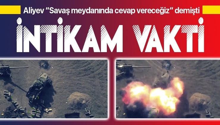 Son dakika: Azerbaycan, Ermenistan'dan Gence intikamını böyle aldı! İşte cephe hattından yeni görüntüler