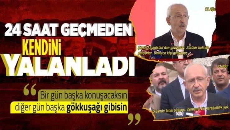 Kılıçdaroğlu'nun 'Afgan mülteci' çelişkisi! 1 gün geçmeden 2 farklı açıklama