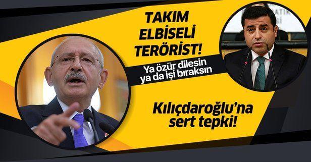 """Şehit aileleri derneğinden Kılıçdaroğlu'na Demirtaş tepkisi: """"Takım elbiseli terörist""""."""