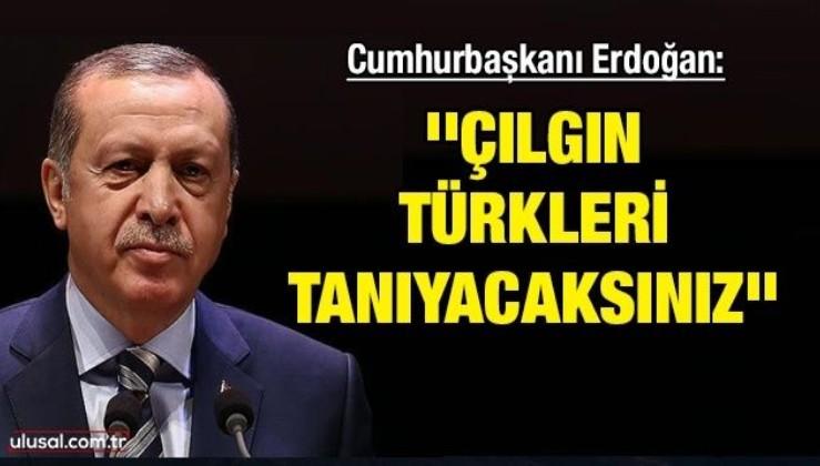 Cumhurbaşkanı Erdoğan: ''Çılgın Türkleri iyi tanıyacaksınız''