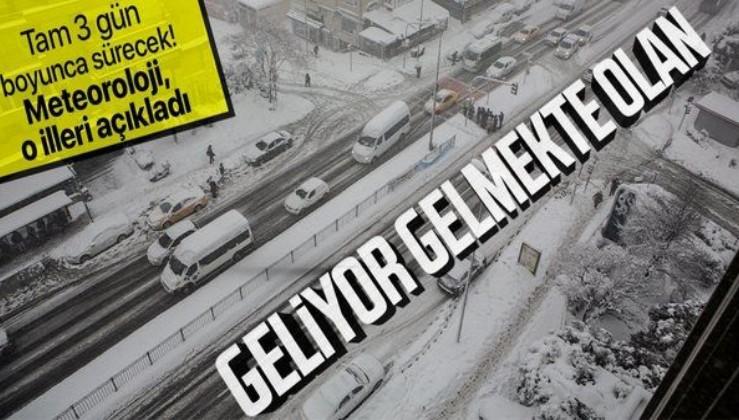 HAVA DURUMU   Meteoroloji'den kar uyarısı! 3 gün boyunca kar yağacak! İstanbul'a kar yağacak mı? İşte kar yağacak iller
