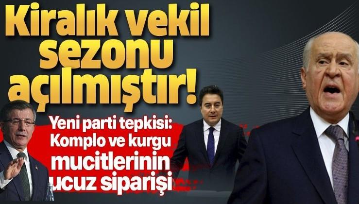 MHP lideri Devlet Bahçeli'den flaş 'yeni parti' açıklaması: Komplo ve kurgu mucitlerinin ucuz siparişidir.