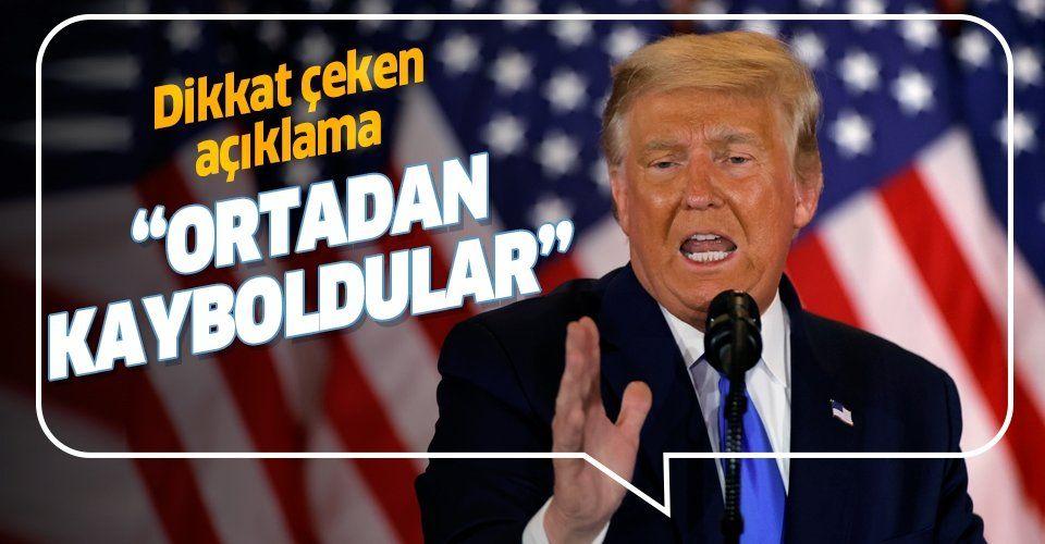 Trump'tan ABD seçimlerine ilişkin çarpıcı açıklama: Oylar sihirli bir şekilde yok olmaya başladı