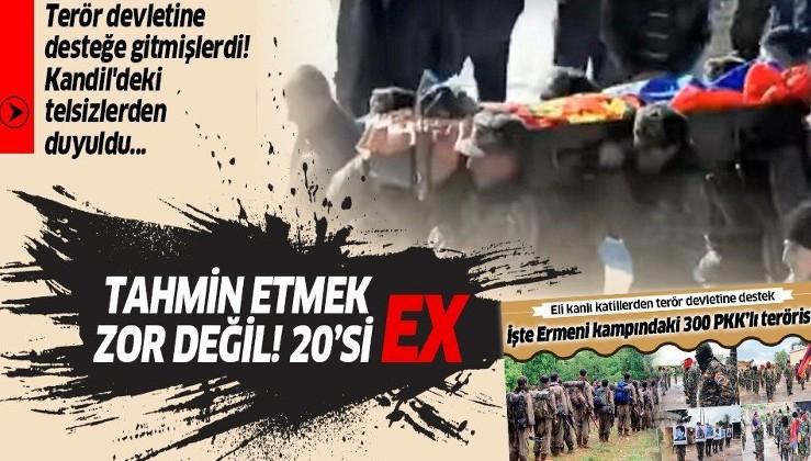 Ermenistan'a desteğe giden 300 YPG/PKK'lı teröristten 20'si öldürüldü